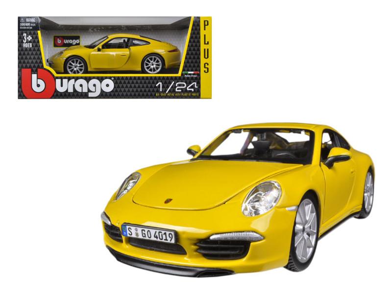 Porsche 911 (997) Carrera S Yellow 1/24 Diecast Car Model Bburago 21065