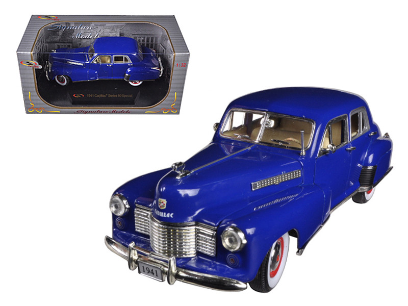 1941 Cadillac Series 60 Special Blue 1/32 Diecast Car Model by Signature Models