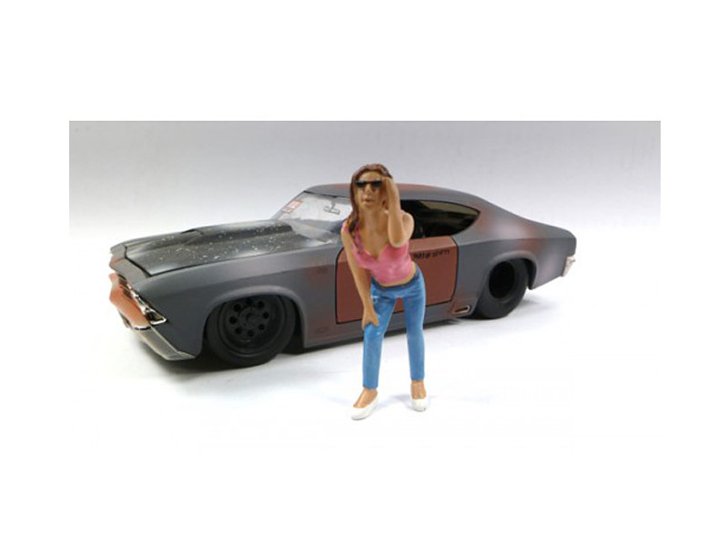 Look Out Girl Erika Figure For 1:24 Scale Diecast Car M