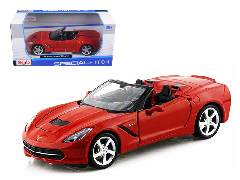 2014 Chevrolet Corvette C7 Convertible Metallic Red 1/2