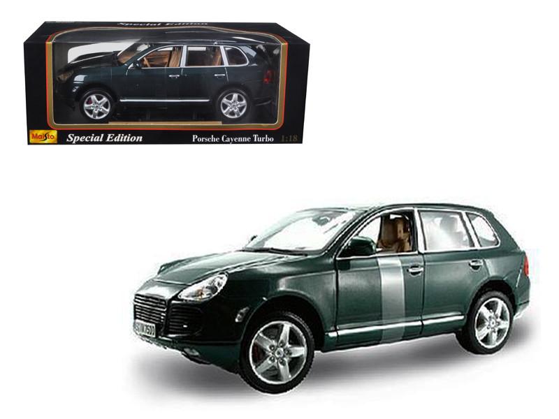 Porsche Cayenne Turbo Green 1/18 Diecast Model Car Maisto 31634