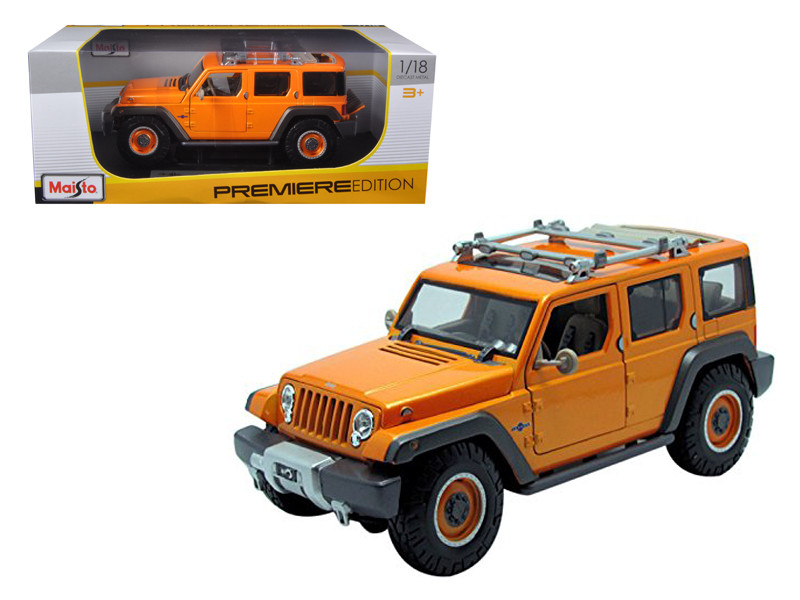Jeep Rescue Concept Orange 1/18 Diecast Model Car Maisto 36699