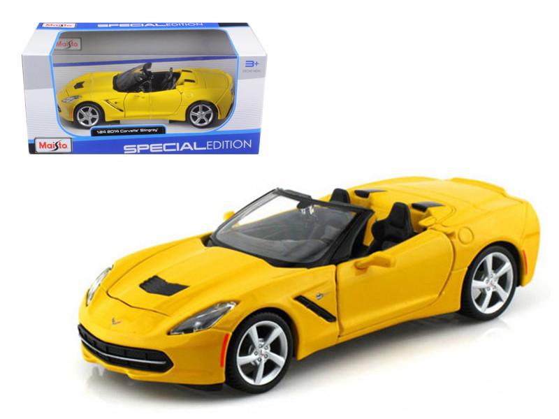 2014 Chevrolet Corvette C7 Convertible Yellow 1/24 Diec