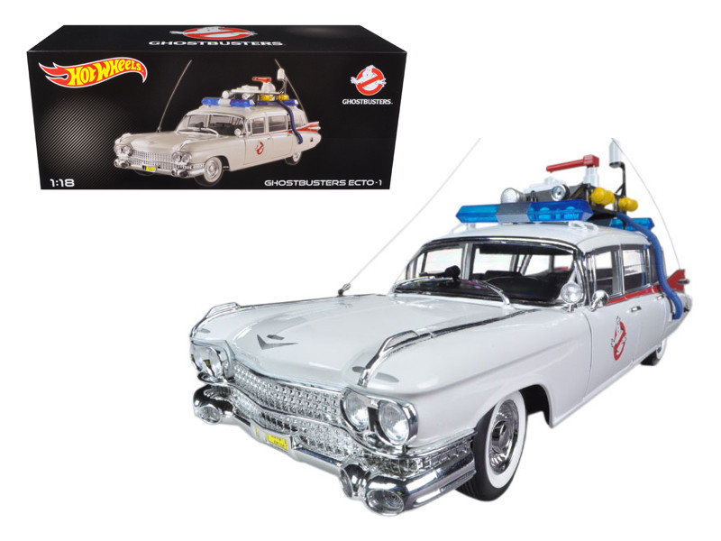 "1959 Cadillac Ambulance Ecto-1 From \Ghostbusters 1"" Movie 1/18 Diecast Car Model by Hotwheels"""""""