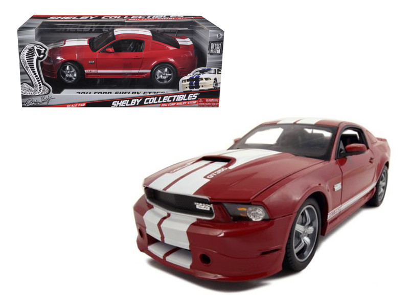 2011 Ford Shelby Mustang GT350 Red 1/18 Diecast Model Car Shelby Collectibles SC352