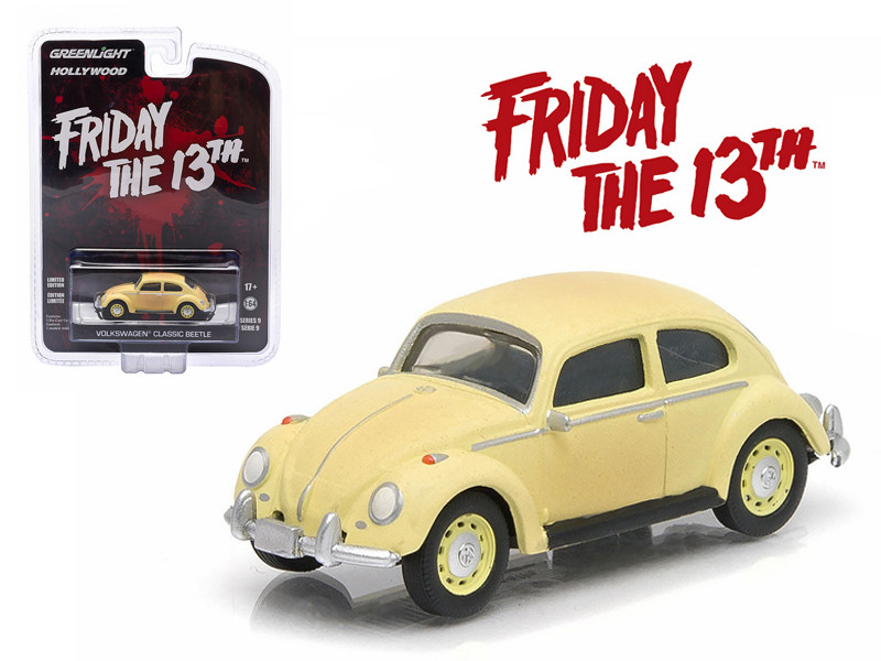 "1963 Volkswagen Beetle \Friday The 13th Part III"" (1982) Movie Hollywood Series 9 1/64 Diecast Model Car by Greenlight """""""