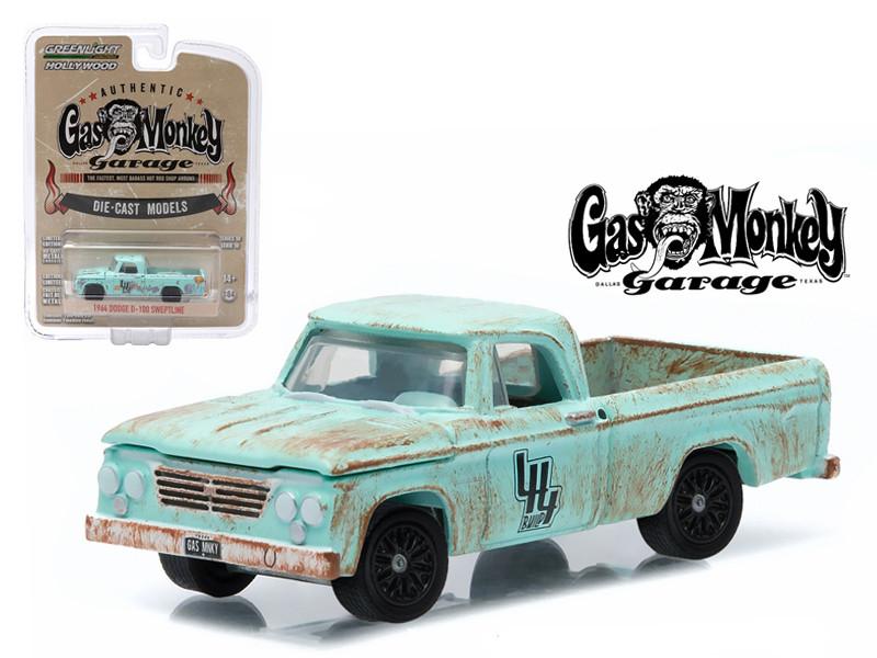 1964 Dodge D-100 Sweptline Gas Monkey Garage 1/64 Diecast Model by Greenlight