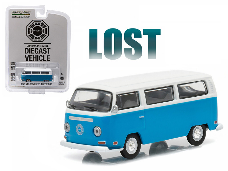 "1971 Volkswagen Type 2 Bus (T2B) ""Lost"" TV Series (2004-2010) 1/64 Diecast Model Greenlight 44720E"