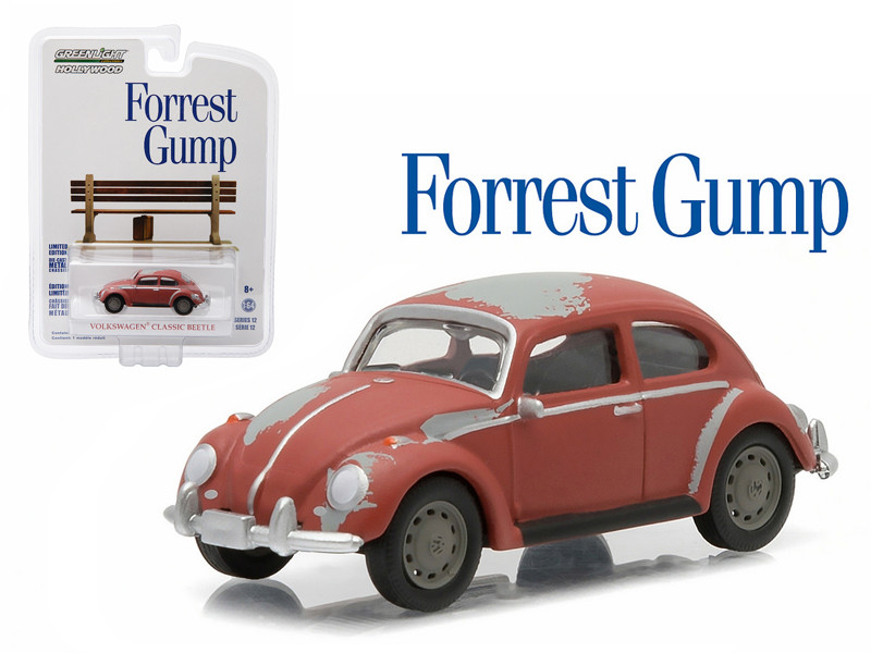 "1961 Volkswagen Beetle \Forrest Gump"" Movie (1994) 1/64 Diecast Model Car by Greenlight"""""""