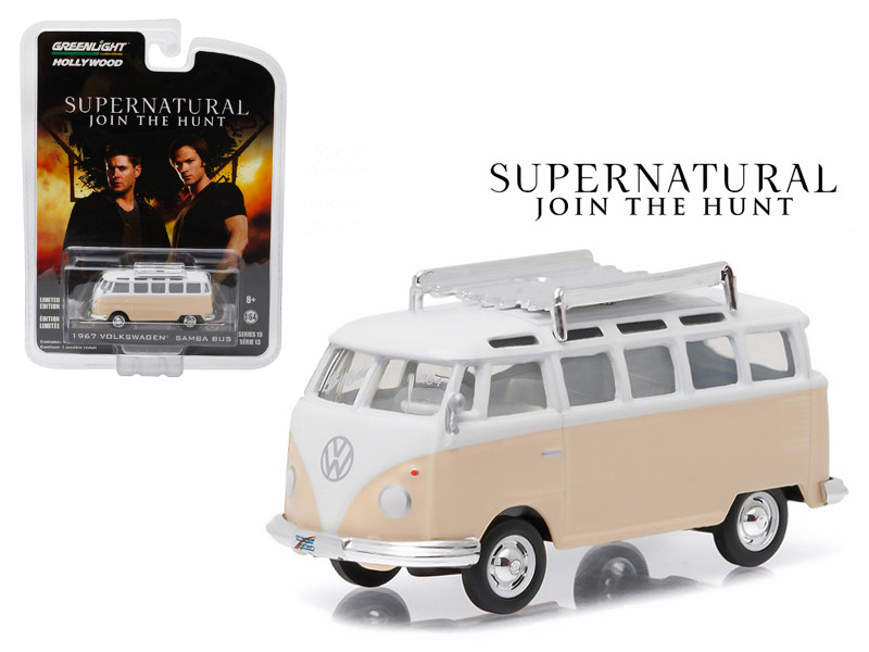 "1964 Volkswagen Samba Bus Rainbow Motors""Supernatural"" TV Series (2005-Current) 1/64 Diecast Model Greenlight 44730C"