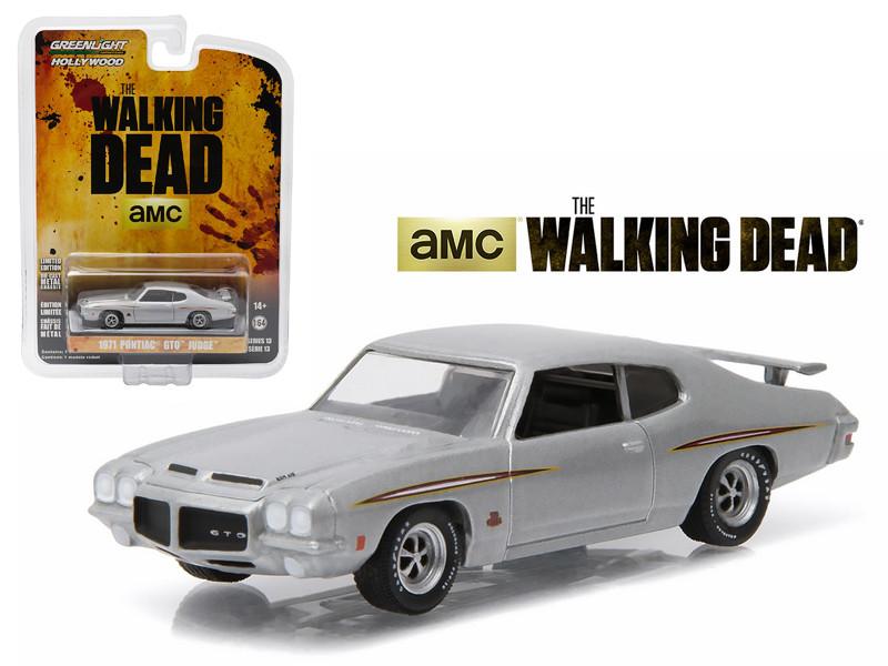 "1971 Pontiac GTO Silver ""The Walking Dead"" TV Series Episode 1.01 (2010-2015) 1/64 Diecast Model Car Greenlight 44730E"
