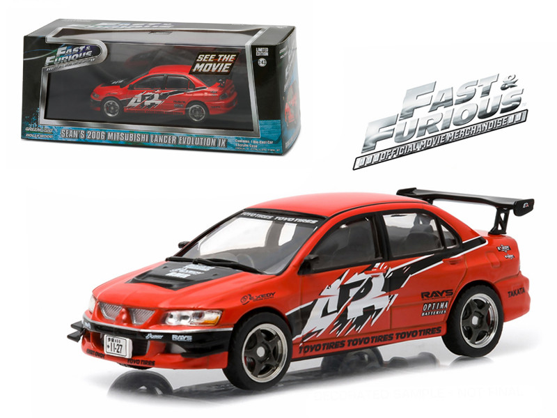 "Sean's 2006 Mitsubishi Lancer Evolution IX ""The Fast and The Furious: Tokyo Drift"" Movie (2006) 1/43 Diecast Model Car Greenlight 86213"