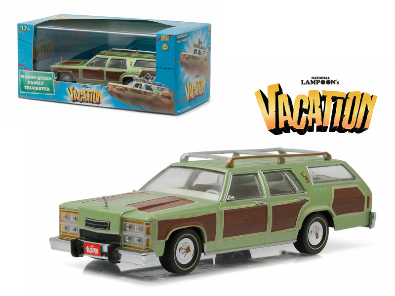 """1979 Family Truckster Wagon Queen """"National Lampoon's Vacation"""" (1983) Movie 1/43 Diecast Model Car Greenlight 86451"""