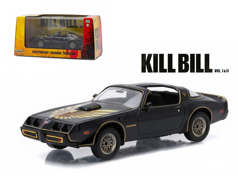 """1979 Pontiac Firebird Trans AM """"Kill Bill Vol. 2"""" Movie (2004) 1/43 Diecast Model Car Greenlight 86452"""