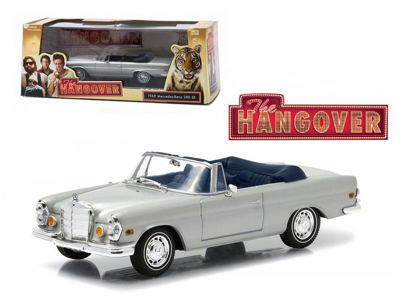 "1969 Mercedes 280 SE Convertible Top Down ""The Hangover"" Movie (2009) 1/43 Diecast Model Car Greenlight 86461"