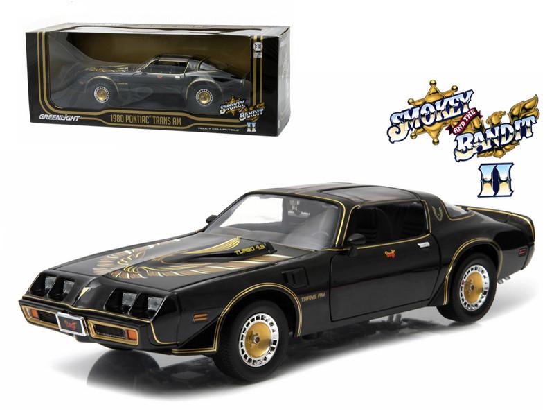 "1980 Pontiac Trans Am Turbo 4.9L ""Smokey And The Bandit 2"" Movie Car 1/18 Diecast Model by Greenlight"