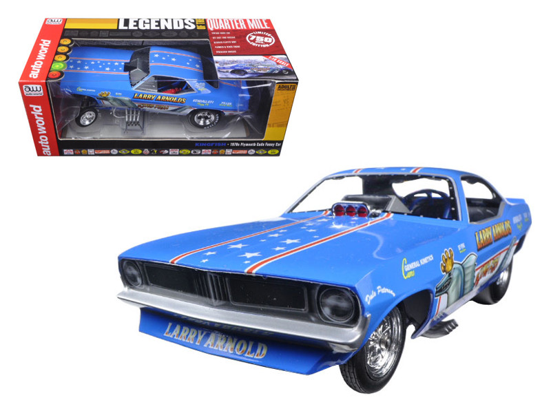 Larry Arnold's King Fish 1970's Plymouth Cuda Funny Car Limited Edition to 750pcs 1/18 Model Car Autoworld AW1173