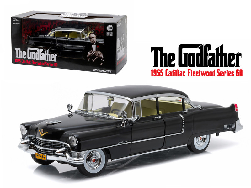 "1955 Cadillac Fleetwood Series 60 Special ""The Godfather"" Movie (1972) 1/18 Diecast Model Car Greenlight 12949"