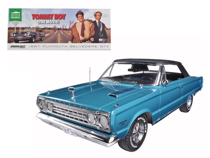 "1967 Plymouth Belvedere GTX \Tommy Boy"" Movie (1995) 1/18 Diecast Model Car by Greenlight"""""""