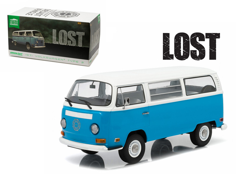 "1971 Volkswagen Type 2 Bus (T2B) ""Lost"" TV Series (2004-2010) 1/18 Diecast Model Greenlight 19011"