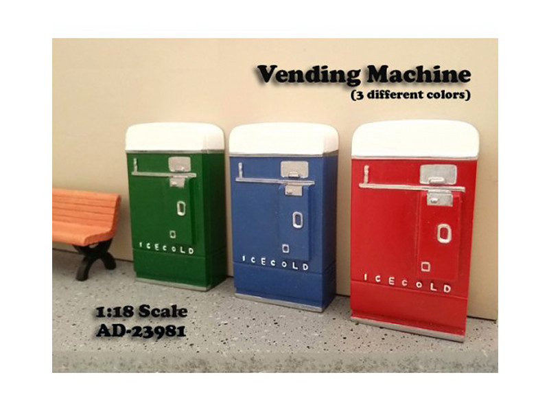 1 piece Vending Machine Accessory Diorama Blue For 1:18 Scale Models by American Diorama