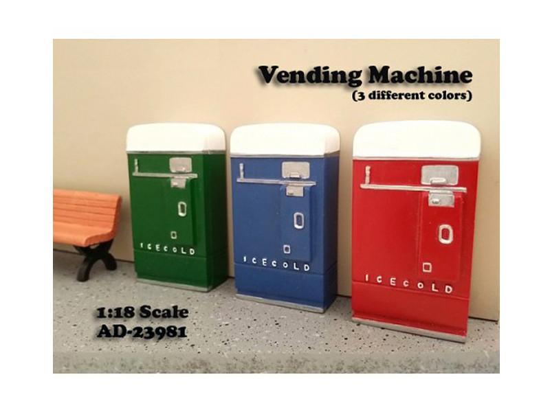 1 Piece Vending Machine Accessory Diorama Green For 1:18 Scale Models by American Diorama