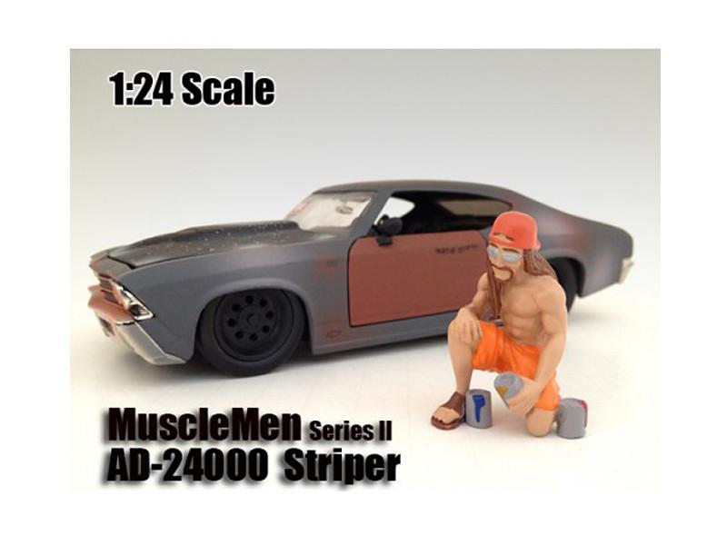 """Musclemen """"Striper"""" Figure For 1:24 Scale Models American Diorama 24000"""