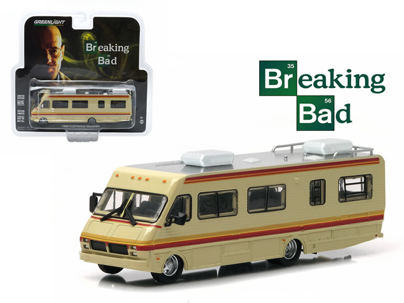 1986 Fleetwood Bounder RV Breaking Bad (2008-13 TV Series) 1/64 Diecast Model Greenlight 33021