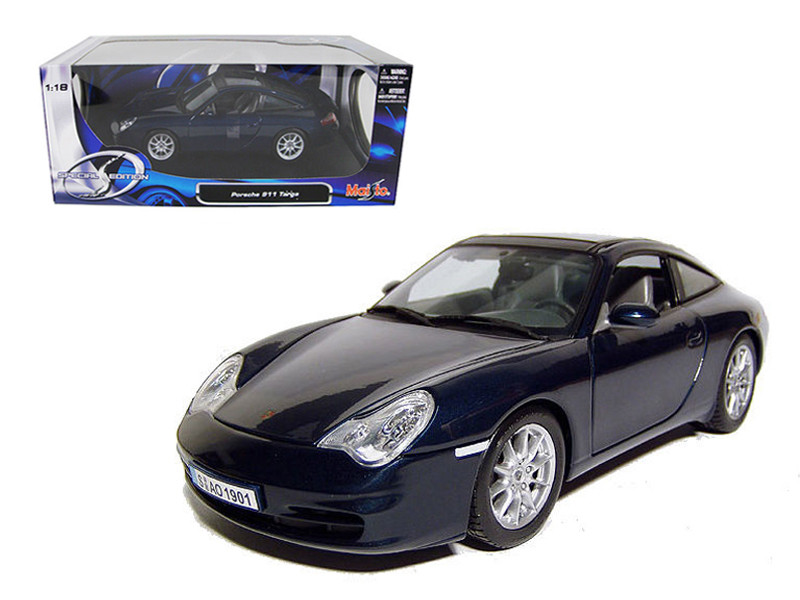 Porsche 911 Carrera Targa Blue 1/18 Diecast Model Car by Maisto