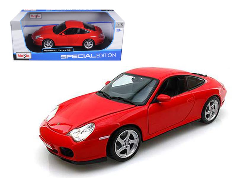 Porsche Carrera 4S Red 1/18 Diecast Car Model by Maisto
