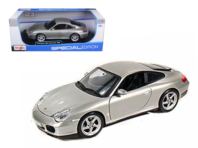 Porsche 911 Carrera 4S Silver 1/18 Diecast Model Car by Maisto