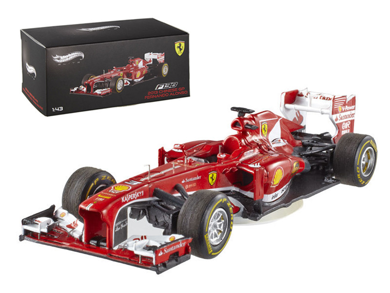 Elite Ferrari F2013 F138 Fernando Alonso Formula 1 2013 F1 China GP 1/43 Diecast Car Model Hotwheels BCK13