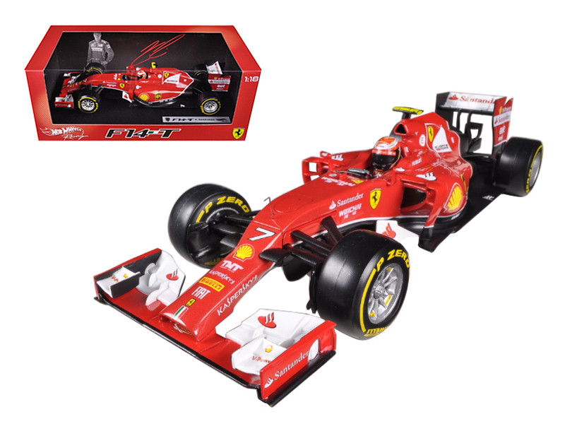2014 Ferrari F1 F14 T Formula 1 F2014 Kimi Raikkonen 1/18 Diecast Car Model Hotwheels BLY68