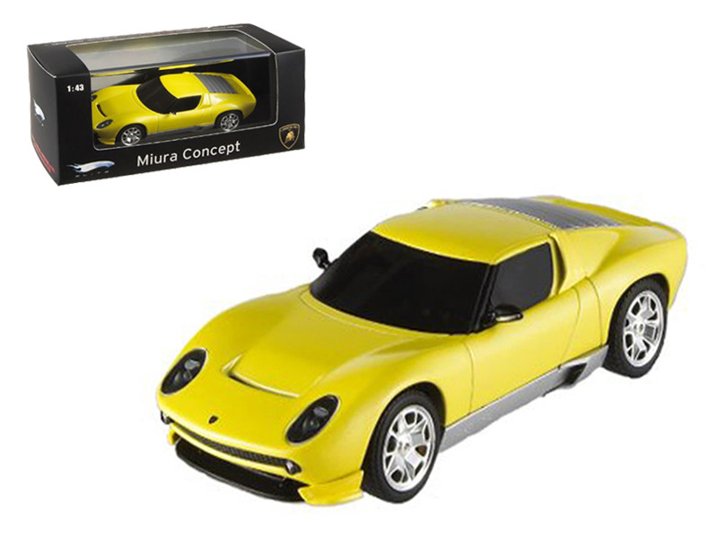 Lamborghini Miura Concept Yellow Elite Edition 1/43 Diecast Model Car Hotwheels P4882