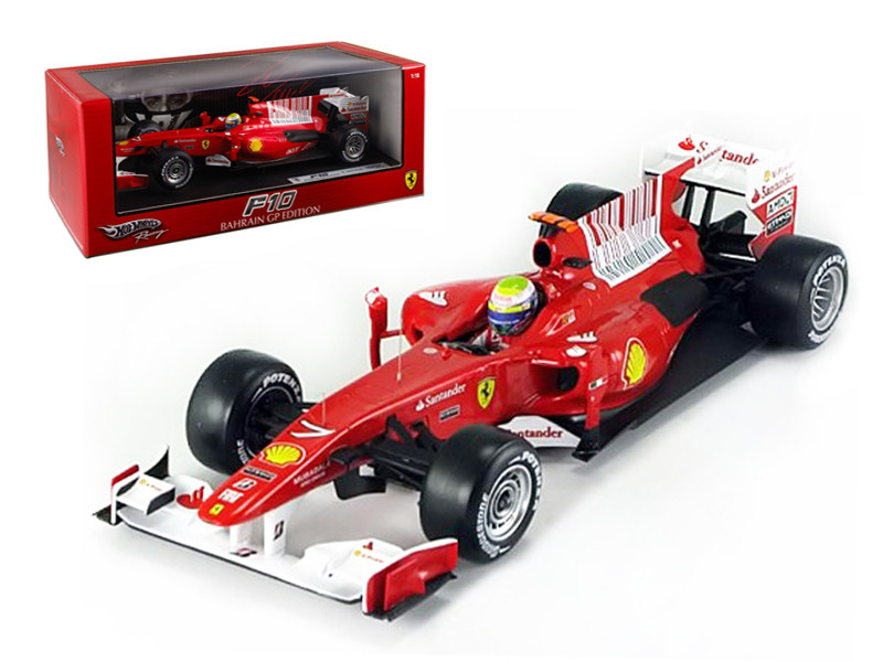 2010 F.Massa F10 Bahrain GP Ferrari Team F1 1/18 Diecast Model Car Hotwheels T6288