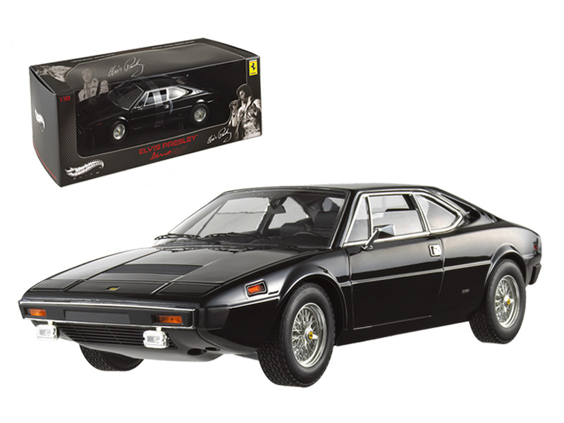Ferrari Dino 308 GT4 Elvis Presley Owned Black Elite Edition 1/18 Diecast Model Car Hotwheels V7425