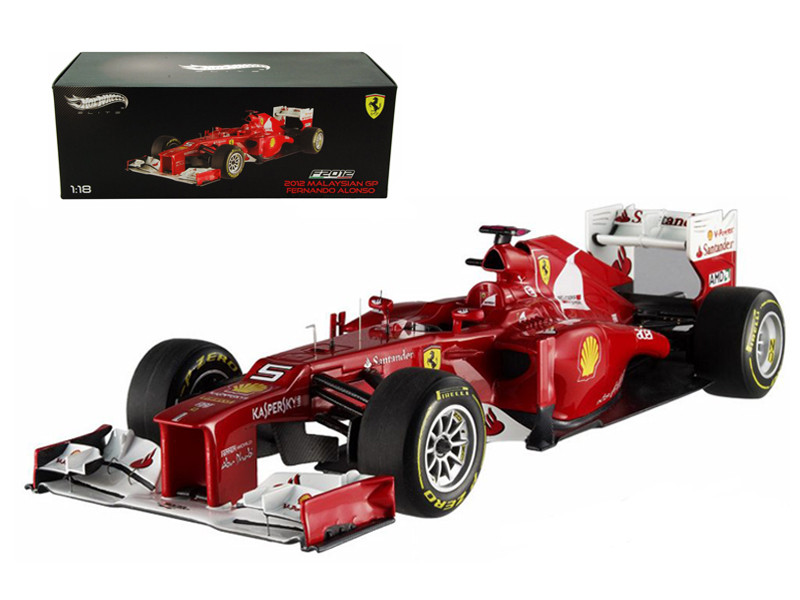 F2012 Fernando Alonso Malaysia GP 2012 F1 Elite Edition Limited to 5000pc 1/18 Diecast Model Car Hotwheels X5484