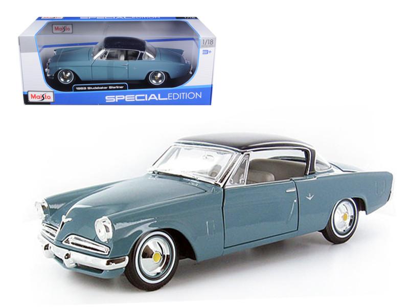 1953 Studebaker Starliner Blue 1/18 Diecast Model Car by Maisto