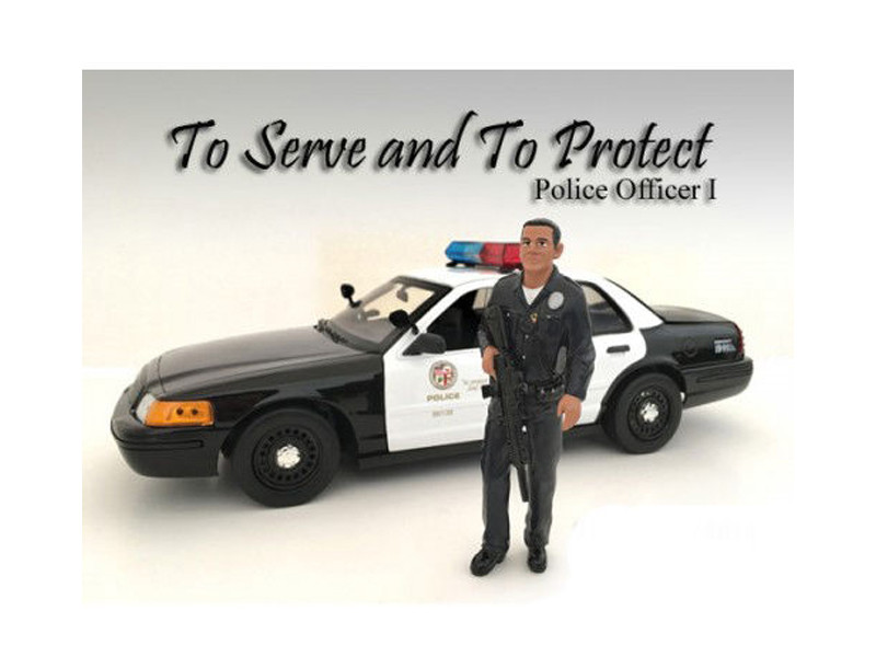 Police Officer I Figure For 1:18 Scale Models American Diorama 24011