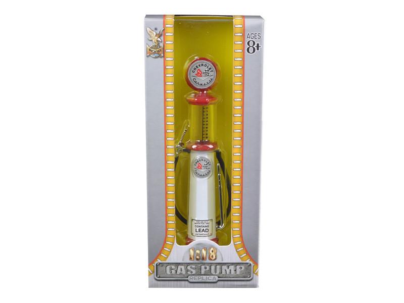 Corvette Gasoline Vintage Gas Pump Cylinder 1/18 Diecast Replica Road Signature 98672