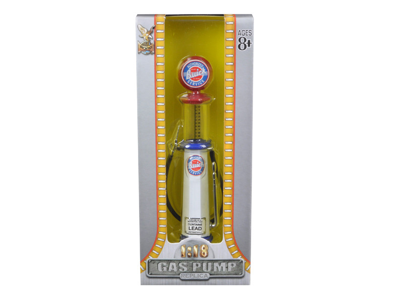 Buick Gasoline Vintage Gas Pump Cylinder 1/18 Diecast Replica Road Signature 98682