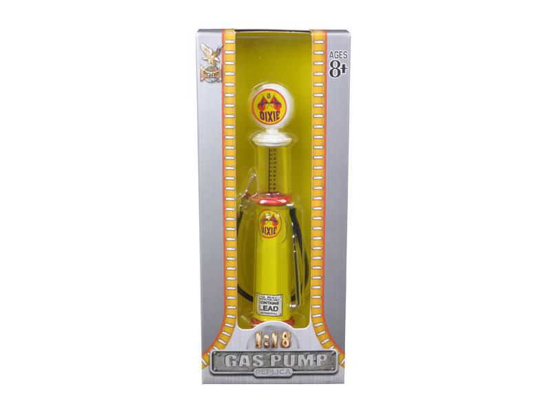 Dixie Gasoline Vintage Gas Pump Cylinder 1/18 Diecast Replica Road Signature 98722
