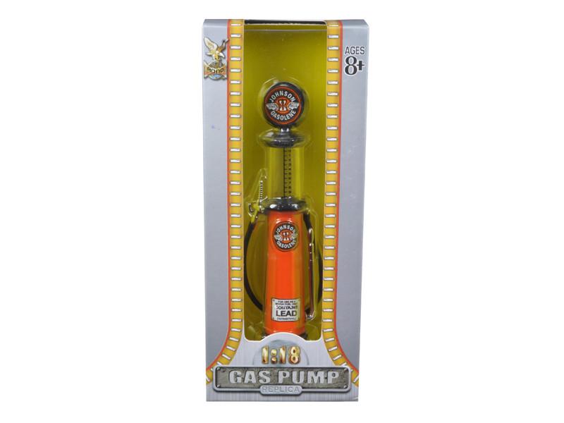 Johnson Gasoline Vintage Gas Pump Cylinder 1/18 Diecast Replica Road Signature 98762