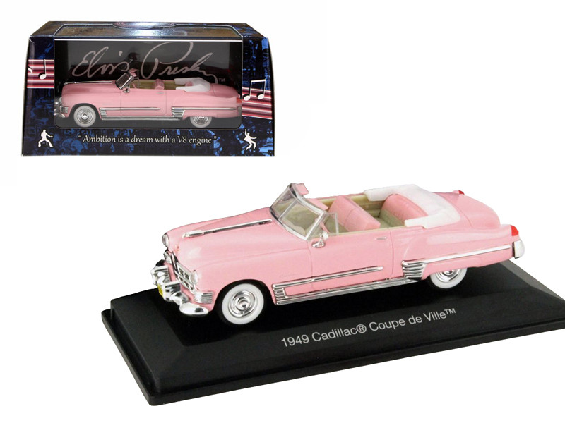 1949 Elvis Presley Pink Cadillac Convertible 1/43 Diecast Model Car Motorcity Classics ‏ 48888EP
