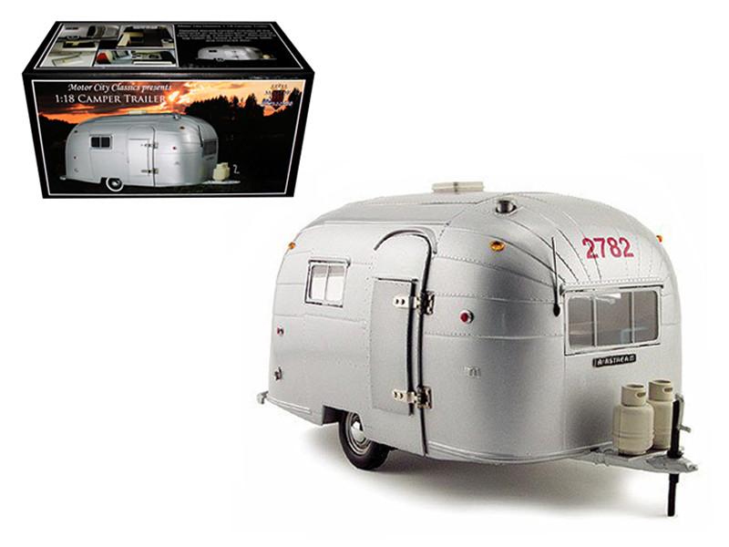 Aluminum Camper Trailer 1/18 Diecast Model Motorcity Classics 88101