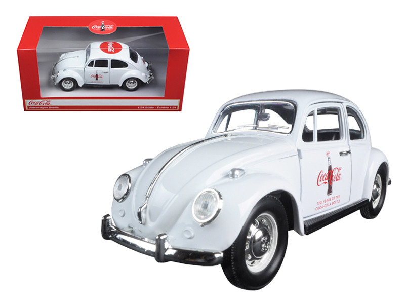 "1967 Volkswagen Beetle ""Celebrating 100 years of the Coca Cola Contour Bottle"" 1/24 Diecast Model Car Motorcity Classics 478966"