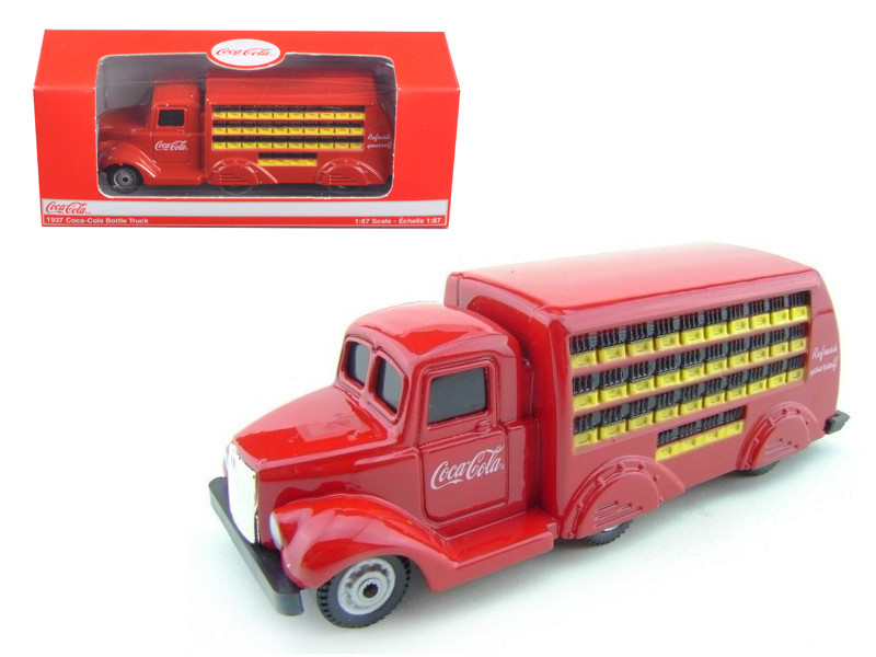 1937 Coca Cola Delivery Bottle Truck 1:87 HO Scale Diec