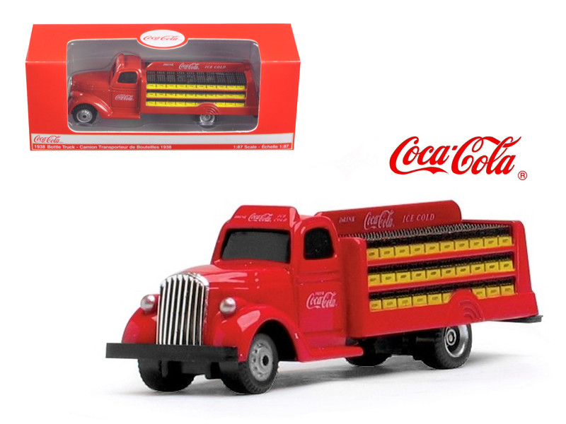 1938 Coca Cola Delivery Bottle Truck 1:87 HO Scale Diecast Model Motorcity Classics 424133