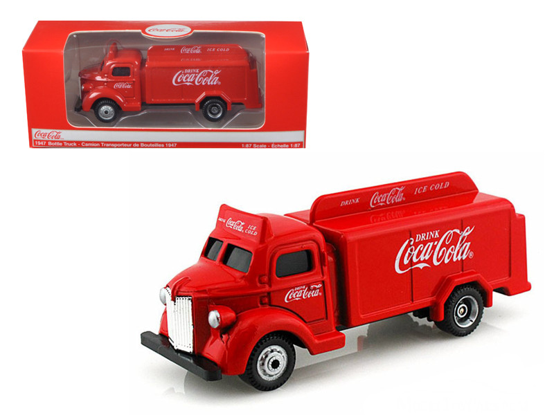 1947 Coca Cola Delivery Bottle Truck Red 1/87 Diecast M