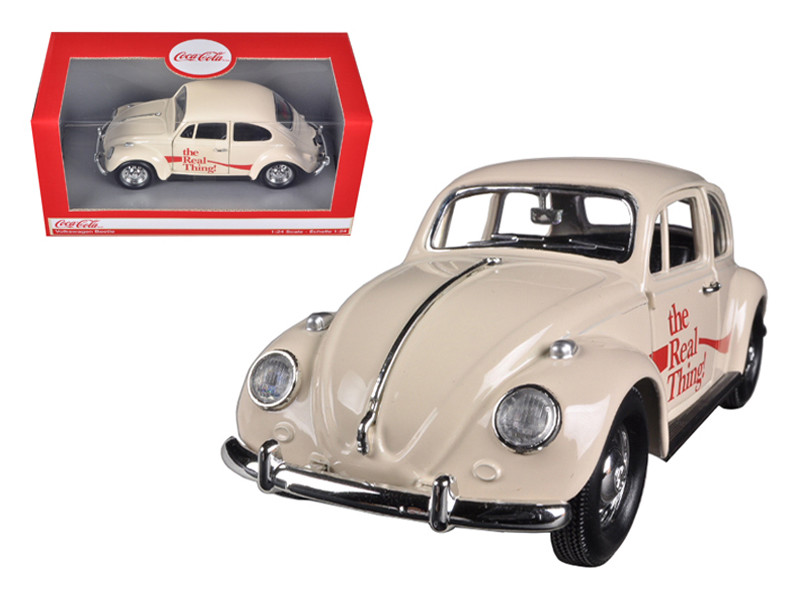 "1966 Volkswagen Beetle ""Coca Cola"" The Real Thing 1/24 Diecast Car Model Motorcity Classics 440047"